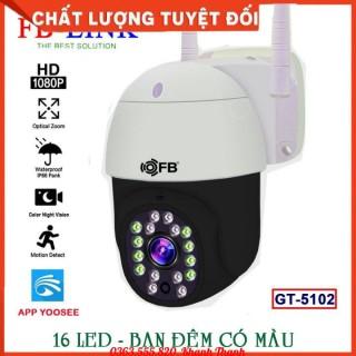 Camera IP Wifi Ngoài trời FB-Link GT-5102 Full HD (App Yoosee Ban đêm có màu) Chống nước tốt + Adapter thumbnail