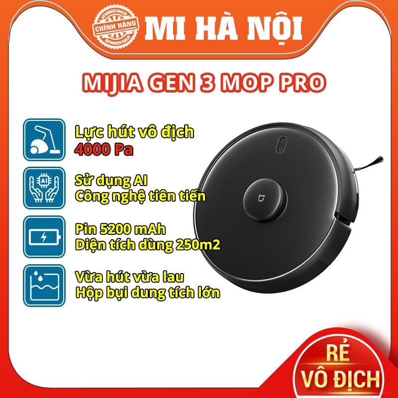 Robot hút bụi Xiaomi Mijia Gen 3 Mop Pro / Mijia Gen 2 quốc tế  (MOP P) - TRẢ GÓP 0%