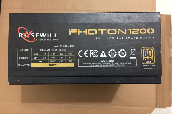 Giá Nguồn - PSU 1200W RoseWill 80 Plus Gold Cũ