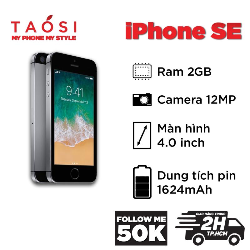 ⚡TAOSI⚡ Apple iPhone 5 SE máy zin keng bản Quốc Tế 32GB RAM 2GB IOS 13 siêu mạnh full chức năng vân tay bluetooth camera 12MP nét pin tốt (Điện thoại thông minh, Smartphone giá rẻ, điện thoại giá rẻ, smartphone giá rẻ)