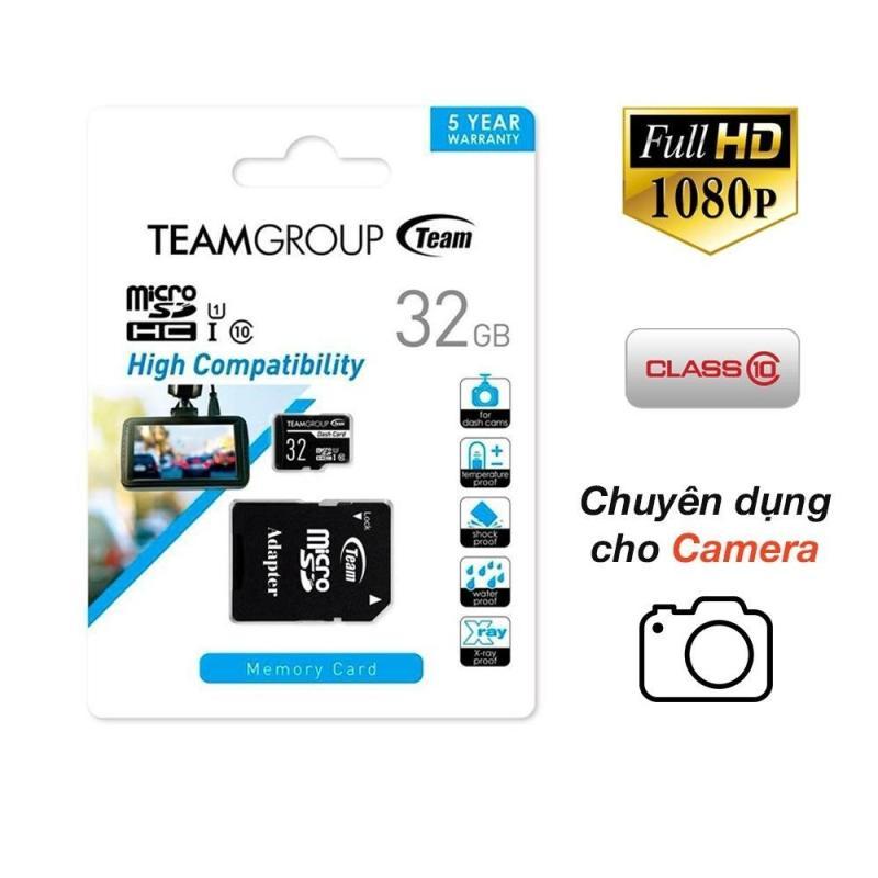 Thẻ nhớ 32GB chuyên dụng cho Camera, Micro SDHC up to 80MB/s class 10 U1 (Đen) - Hãng phân phối chính thức