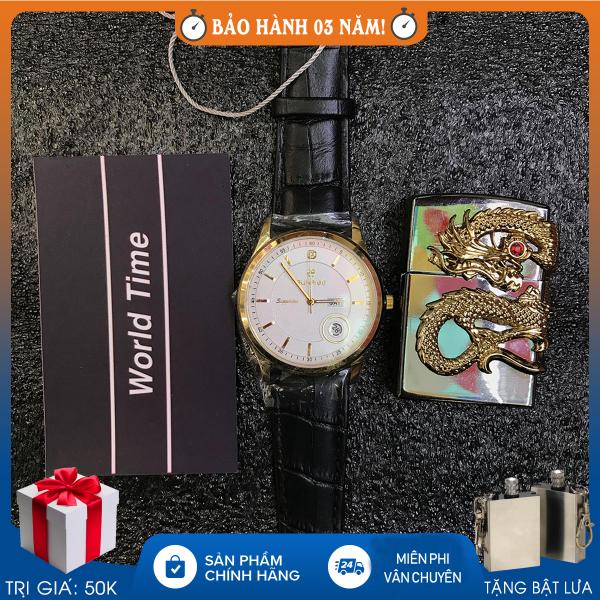 Đồng hồ nam Sunrise DM784SWA, Full hộp, thẻ bảo 3 năm, Sapphire chống xước, chống nước, dây da