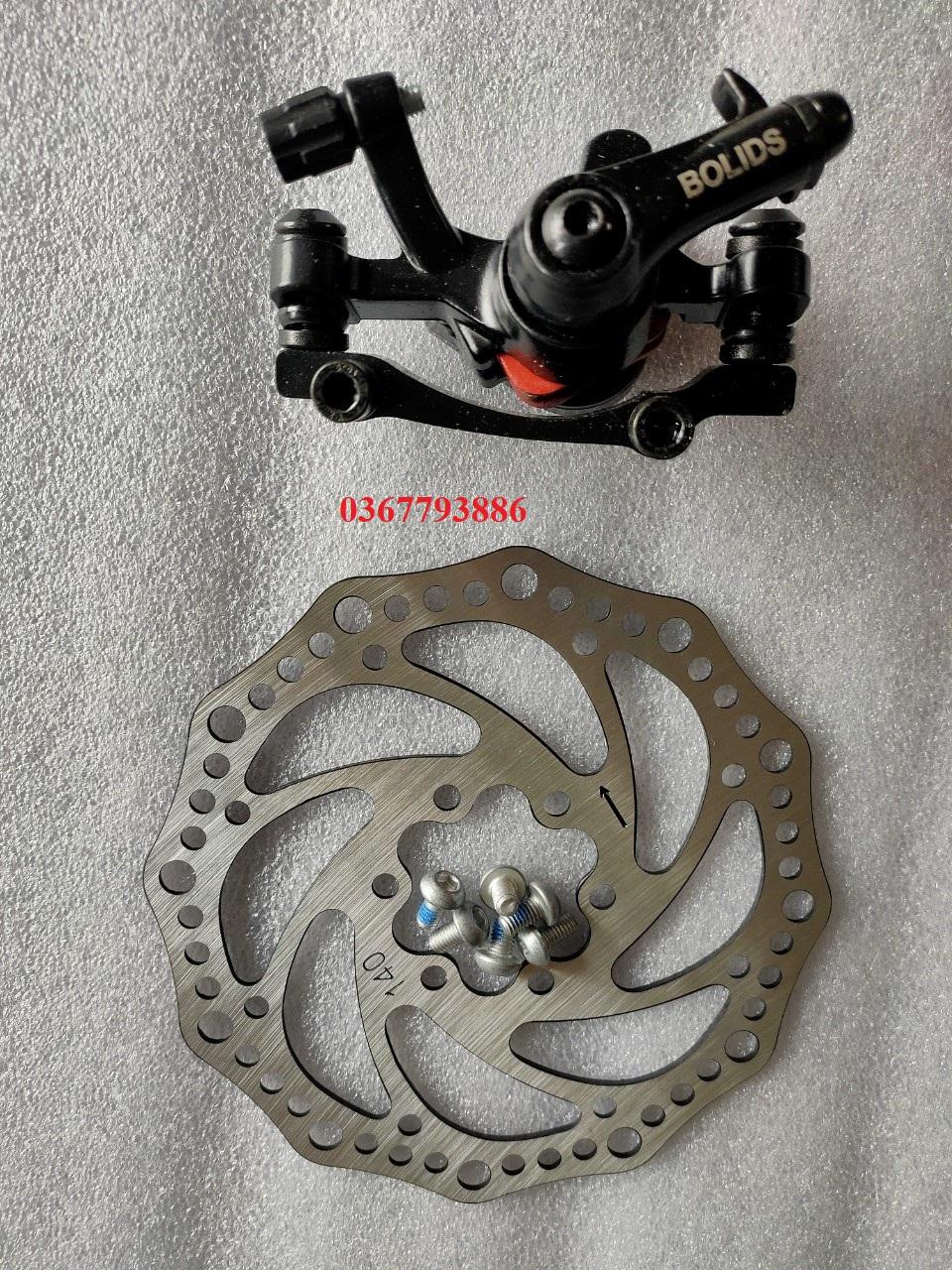 Mua Bộ phanh đĩa và củ phanh 140mm dành cho xe scooter, xe lăn điện bánh 10inch, 12inch