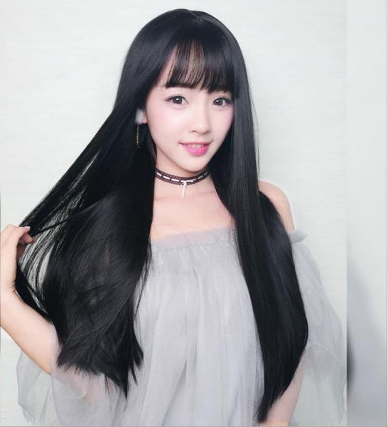 [TẶNG KÈM LƯỚI] Tóc giả nữ nguyên đầu Hàn Quốc - TG87 ( MÀU ĐEN ) cao cấp