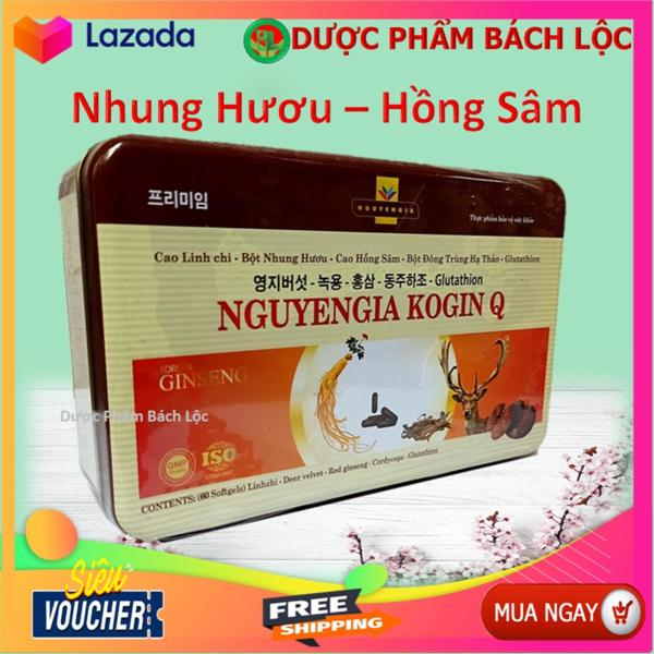 Viên Uống Hồng Sâm Kogin - Đông Trùng Hạ Thảo - Giúp Tăng Cường Sức Khỏe, Kích Thích Tiêu Hóa, Ăn Ngon Miệng- Hộp 60 Viên