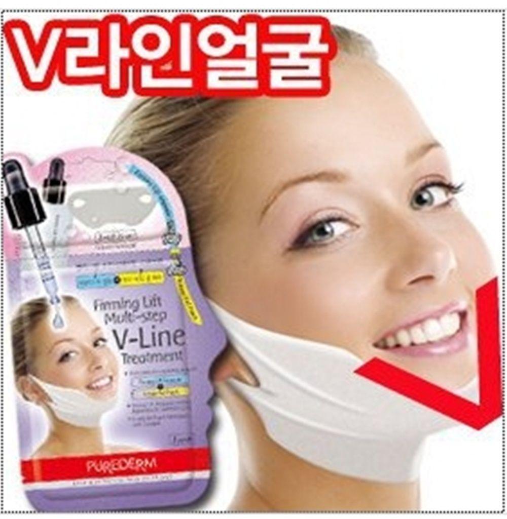 Set 3 mặt nạ nâng cơ, giảm mở thừa tạo hình khuôn mặt V-Line Purederm V-Line Firming Lift Multi-step V-Line Treatment 10g