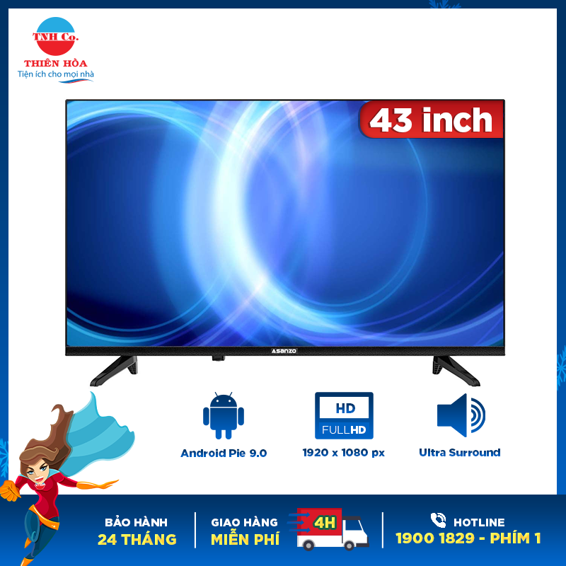 Bảng giá Smart tivi Asanzo 43 inch 43S51