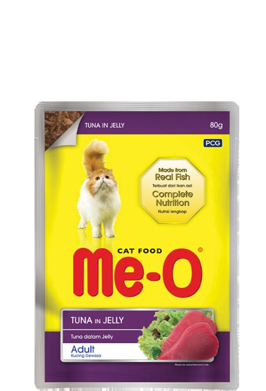 Thức Ăn Mềm Pate Cho Mèo Me-O Tuna In Jelly 80Gr Vị Cá Ngừ Bổ Dưỡng Giúp Mượt Lông, Sáng Mắt