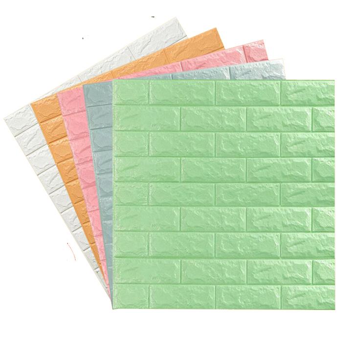 COMBO 10 Tấm Xốp Dán Tường 3D Giả Gạch / Chịu lực, chống nước, chống ẩm mốc / 70x77cm - Xốp Dán Tường giả gạch 3D BỀN - ĐẸP  (ĐƯỢC CHỌN MÀU )