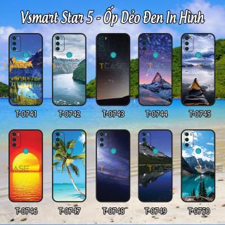 [HCM]Ốp lưng Vsmart Star 5 - Ốp dẻo đen in hình Phong Cảnh thumbnail