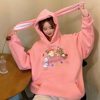 [ Mẫu Mới ] Áo Khoác Nỉ Hoodies Nam Nữ Mũ Tai Thỏ cực dễ thương , mẫu hoodie mới nhất, áo hoodie đẹp XMC11 thumbnail