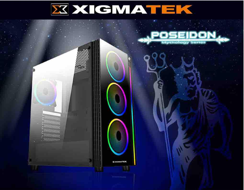 Case XIGMATEK POSEIDON (EN42265) - RGB STRIP - NO FAN