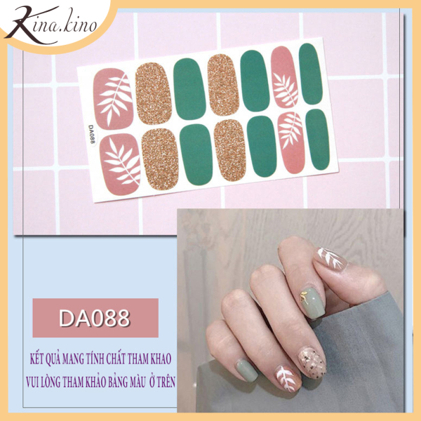 Set 14 miếng dán móng tay, có hơn 40 mẫu miếng dán móng tay 3D cho bạn lựa, miếng dán móng tay cute - Phụ kiện làm đẹp Kina kino cao cấp