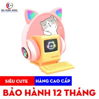 Tai nghe mèo kết nối bluetooth có đèn LED phát sáng model BT28 hàng cao cấp bảo hành 12 tháng toàn quốc thumbnail