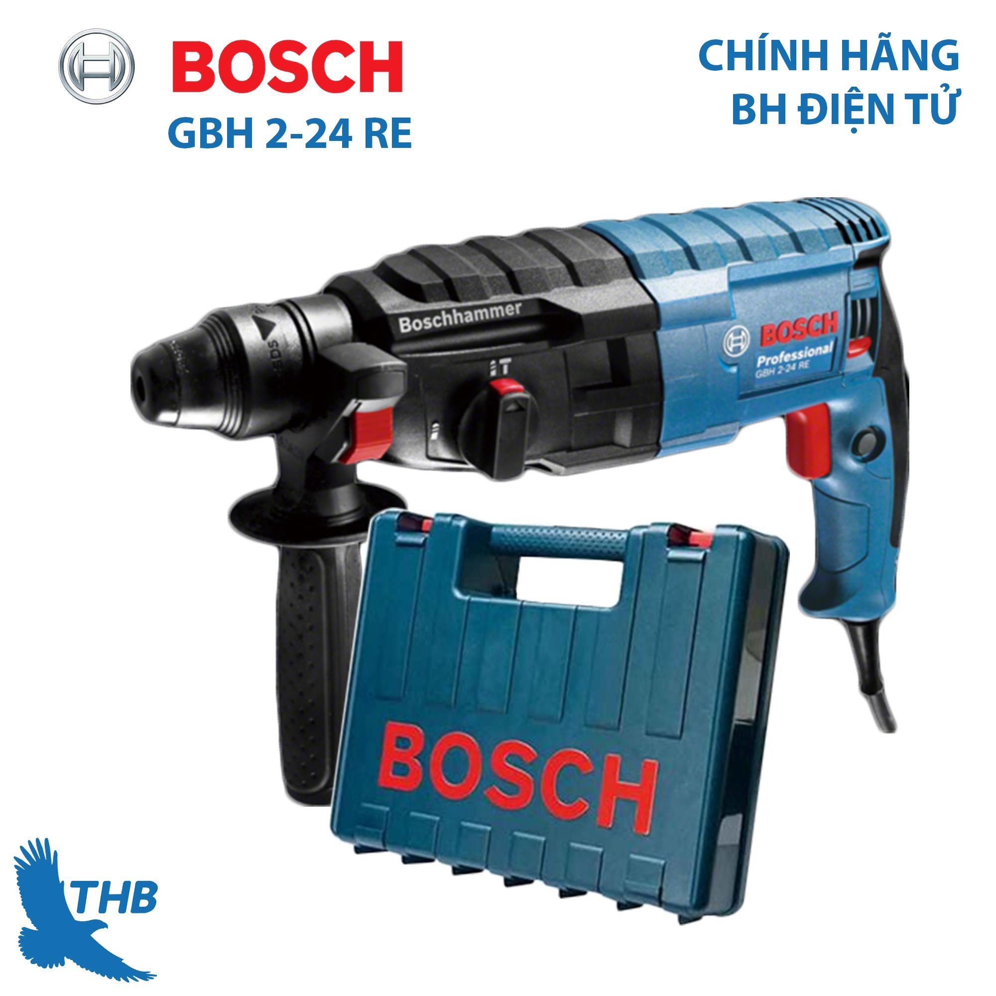 Máy khoan búa Máy khoan bê tông Máy khoan chính hãng Bosch GBH 2-24 RE bảo hành 12T (công suất 790W khoan kim loại 13mm) dùng mũi SDS Plus