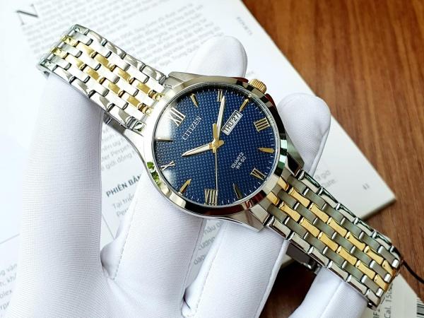 Đồng hồ Nam máy quartz, dây thép không gỉ, kính cứng, size 42mm BF2024-50L