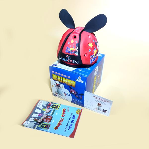 Giá bán Mũ bảo hiểm cho bé Kunbi tặng kèm 1 tập tô