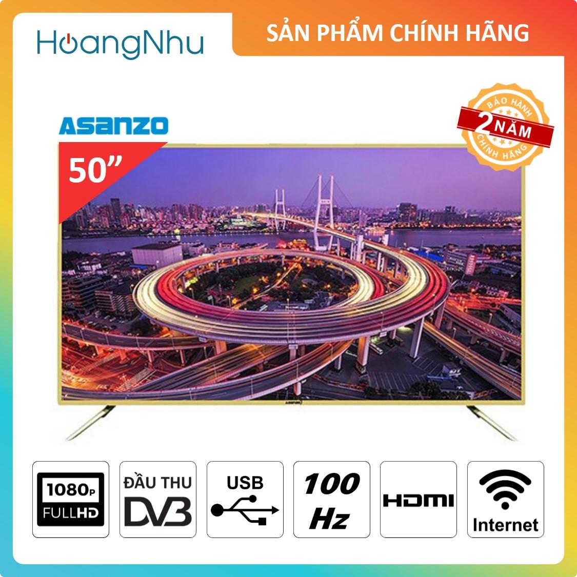 Bảng giá Smart TV LED Asanzo 50ES980 50 inch (TV thông minh, Full HD, Truyền hình KTS)
