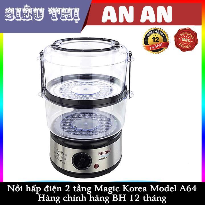 Nồi hấp điện 2 tầng Magic Korea A64 Dung tích 5L