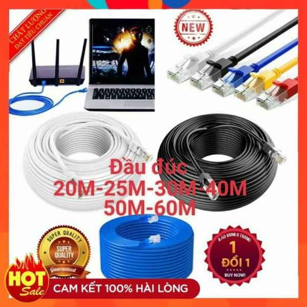 Bảng giá [Lõi Đồng]Dây mạng cat5e dài 20M 25M 30M 40M 50M 60M chuẩn đúc sẵn 2 đầu bấm-dây mạng lan internet tốt xịn cao cấp Phong Vũ
