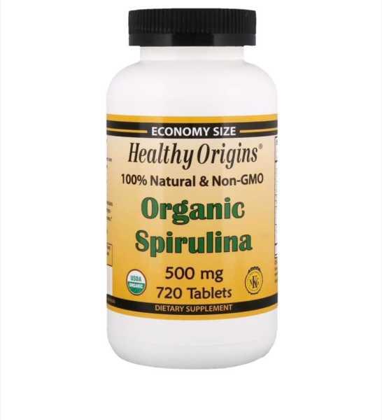 Viên tảo xoắn hữu cơ Healthy Origins Organic Spirulina 500mg 720 viên