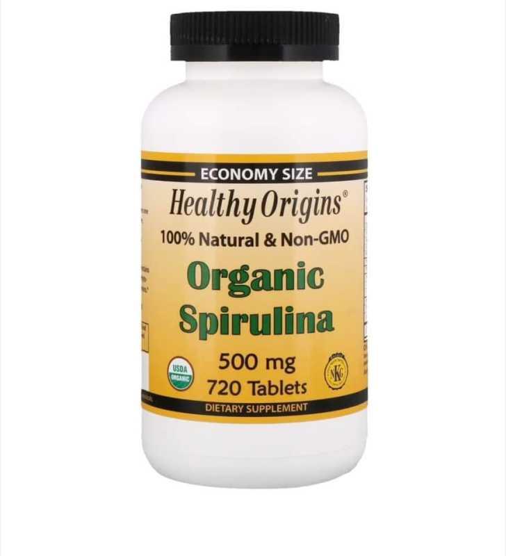 Viên tảo xoắn hữu cơ Healthy Origins Organic Spirulina 500mg 720 viên cao cấp