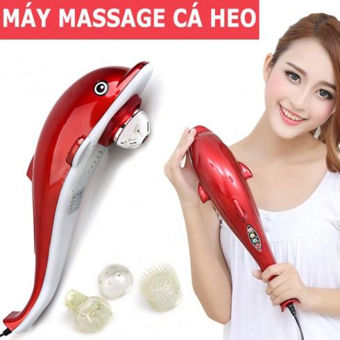Máy Massage Cầm Tay Cá Heo - Massage Bụng, Cơ, Lưng Giúp Giảm Đau Nhanh Chóng, Chức Năng Hoạt Động Rung Tạo Cảm Giác Tê Lên Vùng Da Được Tiếp Xúc,BH 1 đổi 1 toàn quốc cao cấp
