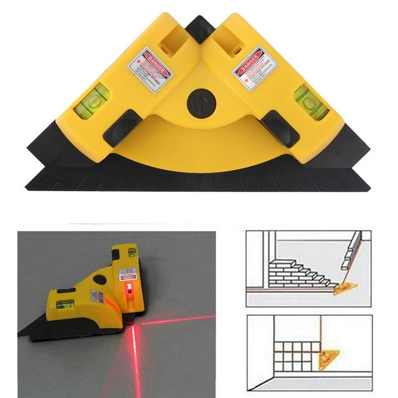 90 Degrees Vertical Horizontal Laser Line Projection Level works Tools ABS