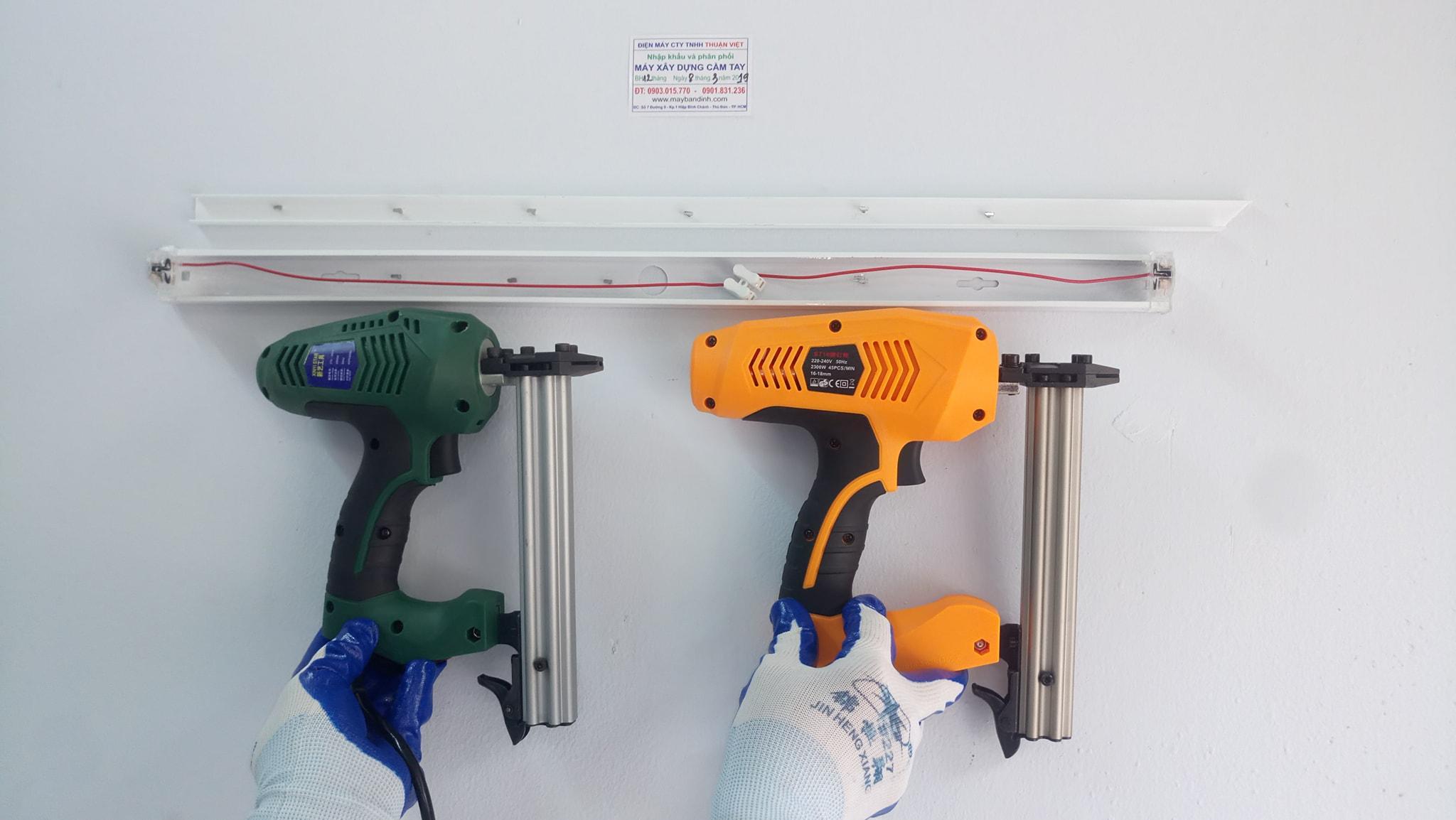 Máy bắn đinh Betong ST18 dùngđiện chuyên dùng bắn nẹp điện nhựa vào tường