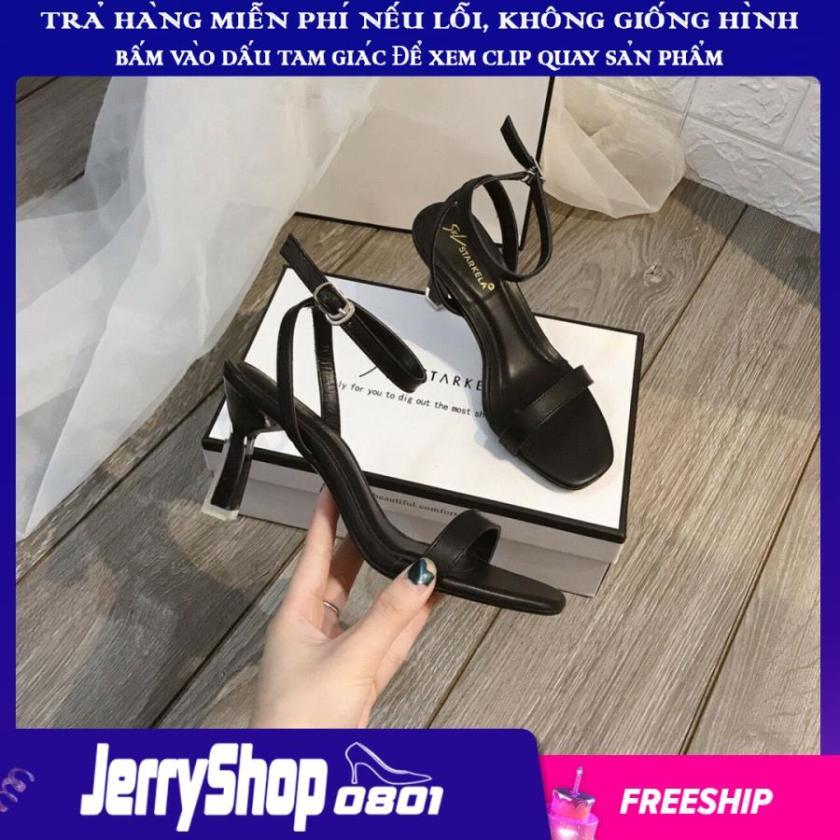 Giày sandal cao gót 7 phân quai mảnh gót lõi sơn siêu đẹp giá rẻ