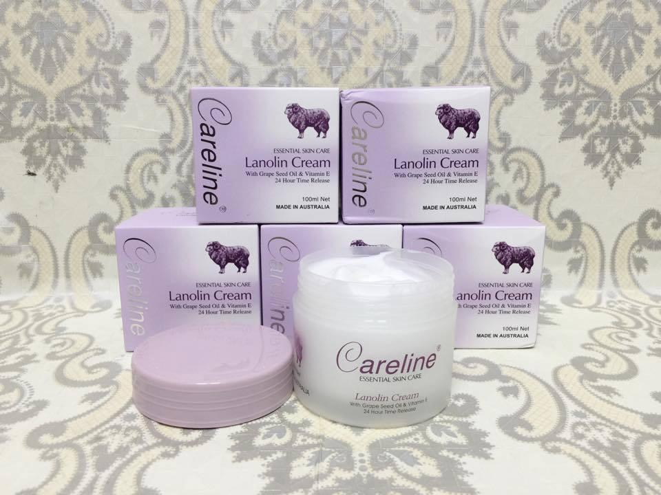 Kem dưỡng da nhau thai cừu của Úc Careline Lanolin cream loại 100g