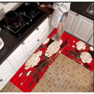 Thảm Bếp 3D Cao Cấp Chống Trơn Trượt ( Bộ 2 Thảm KT 40 60cm & 40 120cm) - Thảm trải sàn, thảm chùi chân, thảm lông thumbnail