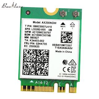 Bộ Chuyển Đổi Thẻ Không Dây Baoblaze Thẻ Wi-Fi Băng Tần Kép Intel AX200 2400Mbps 802.11ax thumbnail
