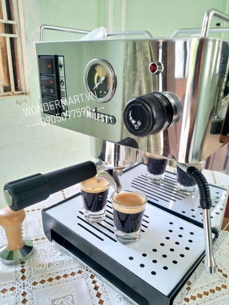 Bảng giá Máy pha cà phê espresso chuyên nghiệp Milesto EM-18 Professional 58mm 9 bar tiêu chuẩn Ý Điện máy Pico