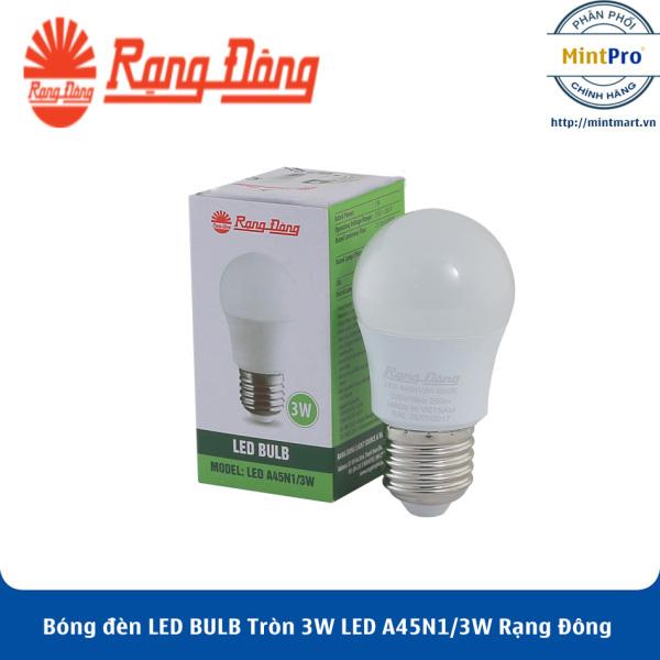 Bóng đèn LED BULB Tròn 3W LED A45N1/3W Rạng Đông - Hàng Chính Hãng