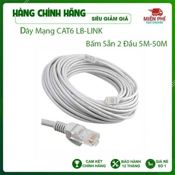 Bảng giá Dây mạng CAT 6 bấm sẵn 2 đầu LB-Link 15m, 20m, 25m,30m, 40m Dây mạng bấm sẵn lõi nhựa chống đứt VDH STORE Phong Vũ