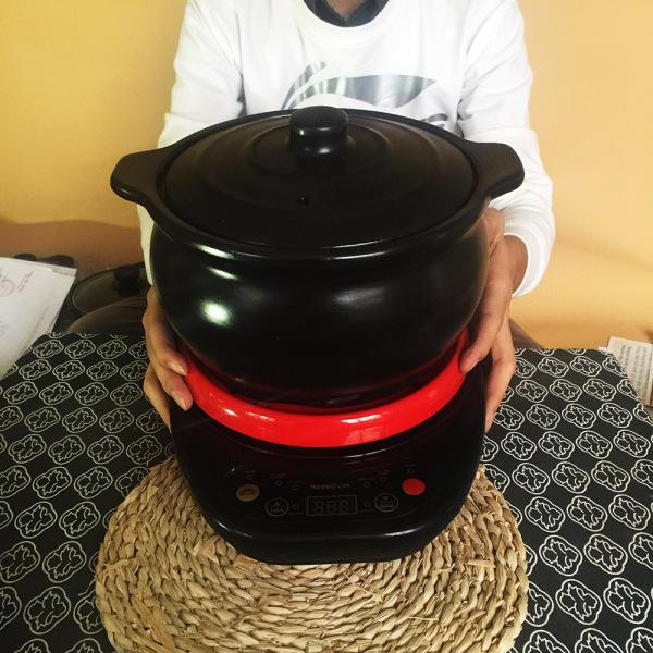 Nồi nấu cháo cho bé 3 lít tráng men màu đen NodaCook Bát Tràng