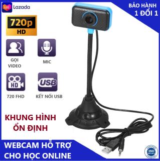 Webcam máy tính có mic cực kỳ hiệu quả cho việc học online - Hàng chính hãng cực nét có hỗ trợ led hỗ trợ ánh sáng - kết nối bằng cổng usb tiện lợi thumbnail