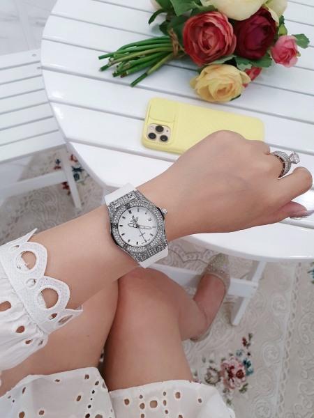 Nơi bán Đồng hồ nữ Hub lot dây cao su nữ về màu trắng