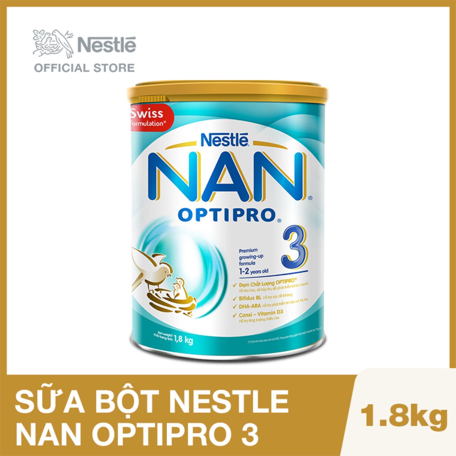 Sữa bột Nestlé NAN OPTIPRO 3 lon 1.8kg