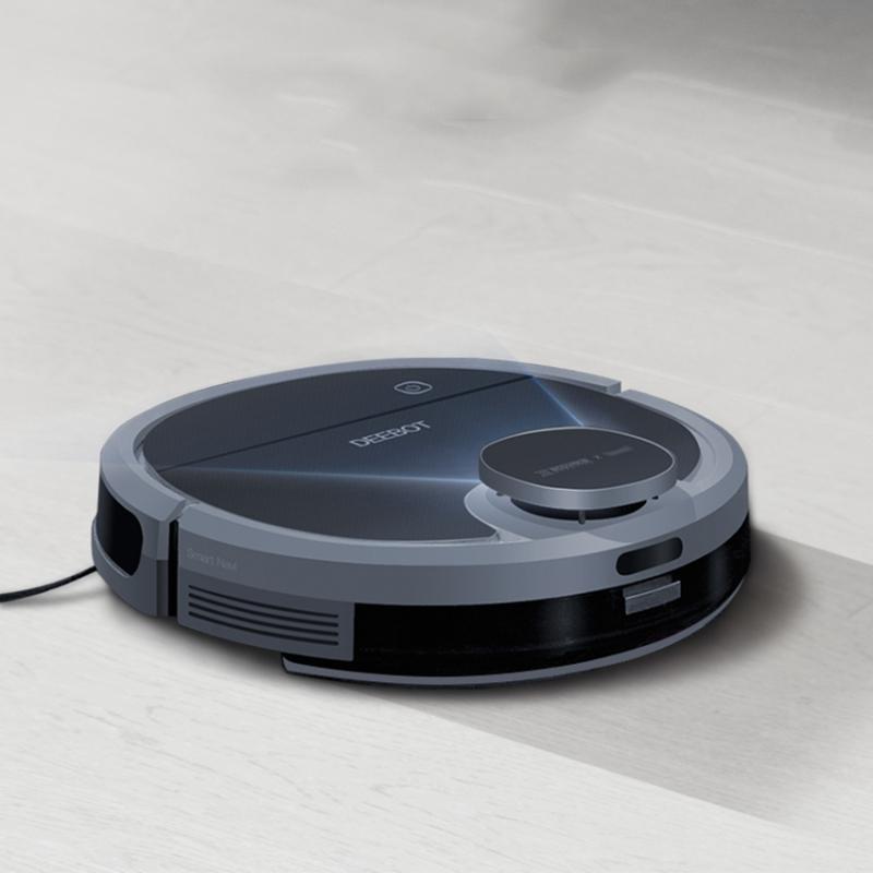 Robot hút bụi lau nhà Ecovacs Deebot DN55 ghi nhớ bản đồ dọn dẹp, vẽ tường ảo và chia khu vực dọn dẹp, BẢO HÀNH 12 THÁNG