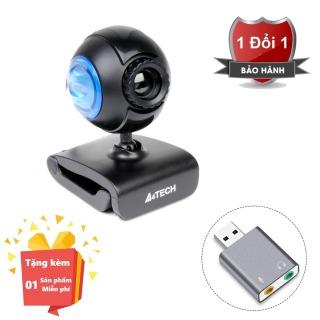 ( Tặng kèm Usb sound 5.1 vỏ nhôm cho máy tính ) Webcam tích hợp Micro cho máy tính, PC, Laptop A4tech 752F - Webcam học online tại nhà A4tech PK-752F - Webcam online kèm Micro 752F thumbnail