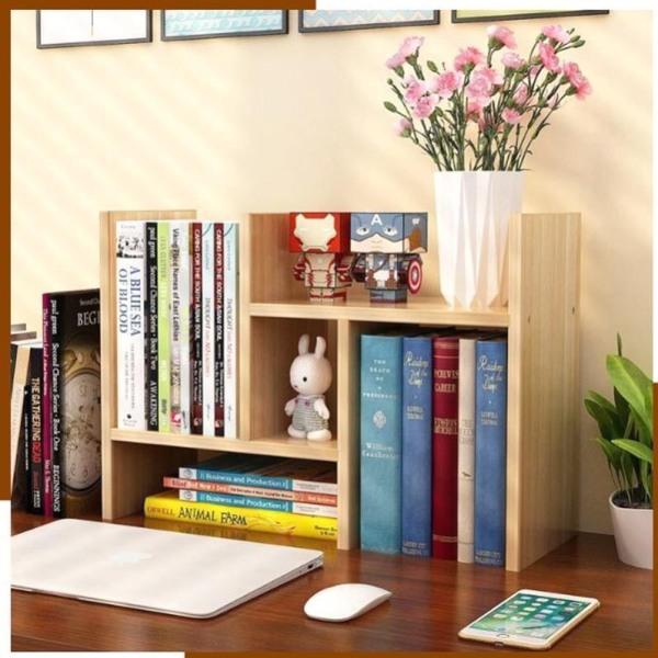 Kệ sách mini làm bằng gỗ, giá để sách, trang trí bàn làm việc siêu tiện dụng