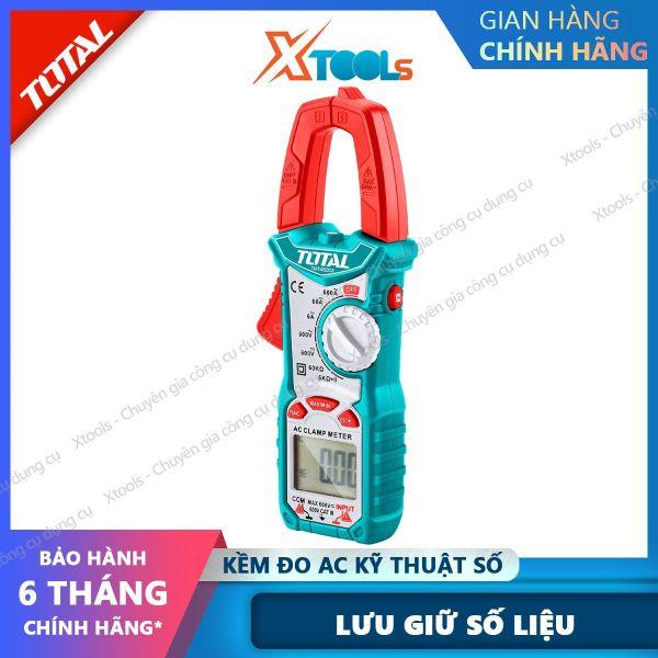 Kềm đo điện AC kỹ thuật số TOTAL TMT46003 có tính ứng dụng cao. Đồng hồ đo điện vạn năng chất liệu cao cấp 6000 số đếm, Lưu giữ số liệu - sản phẩm chính hãng [XTOOLs] [XSAFE]