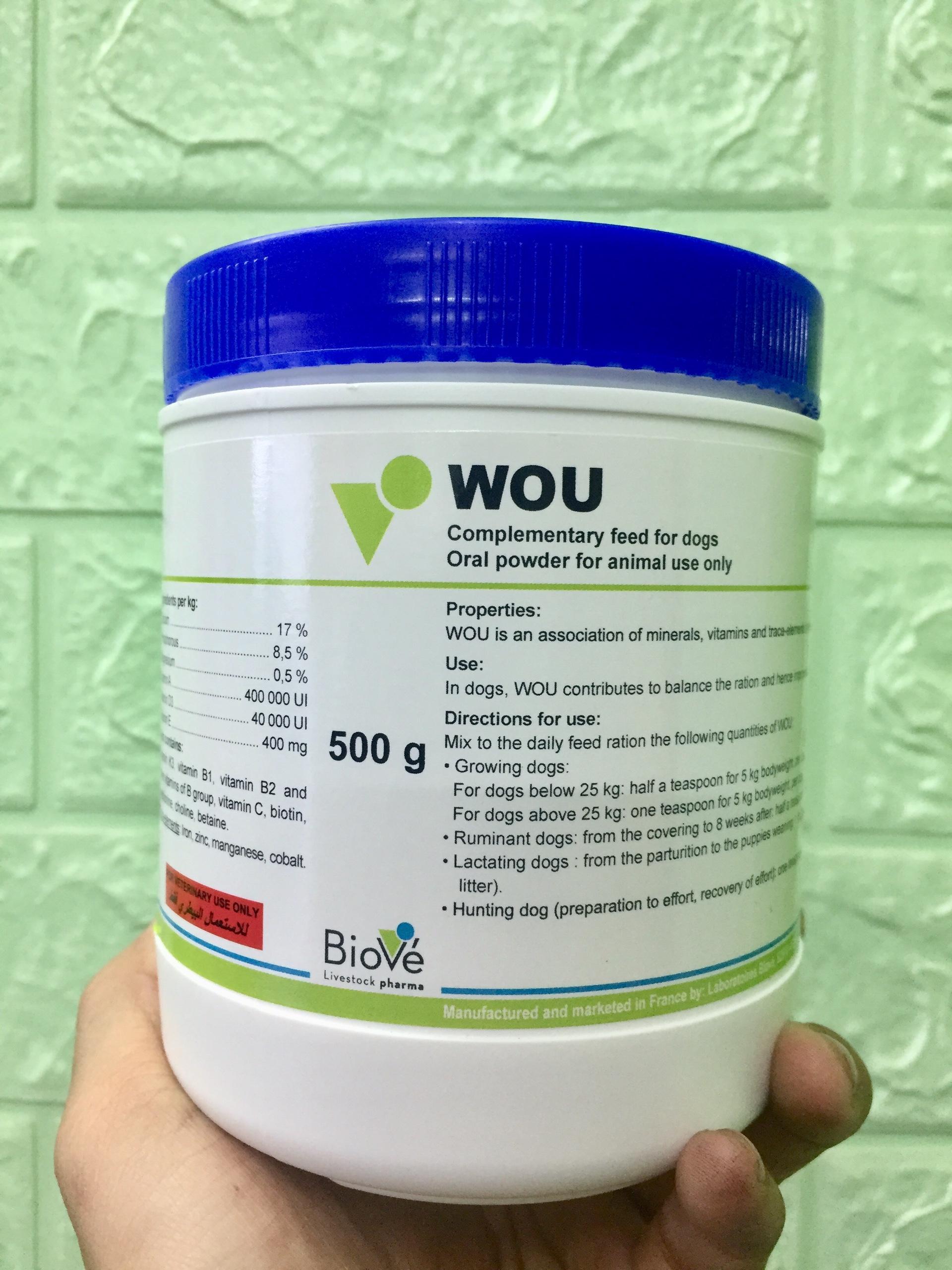 Thức ăn cho chó Wou - bổ sung vitamin, khoáng, canxi cho chó mọi loại chó Nhật Bản