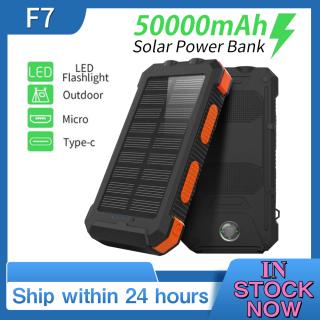 Pin sạc dự phòng năng lượng mặt trời 2 USB Android 50000Mah thumbnail