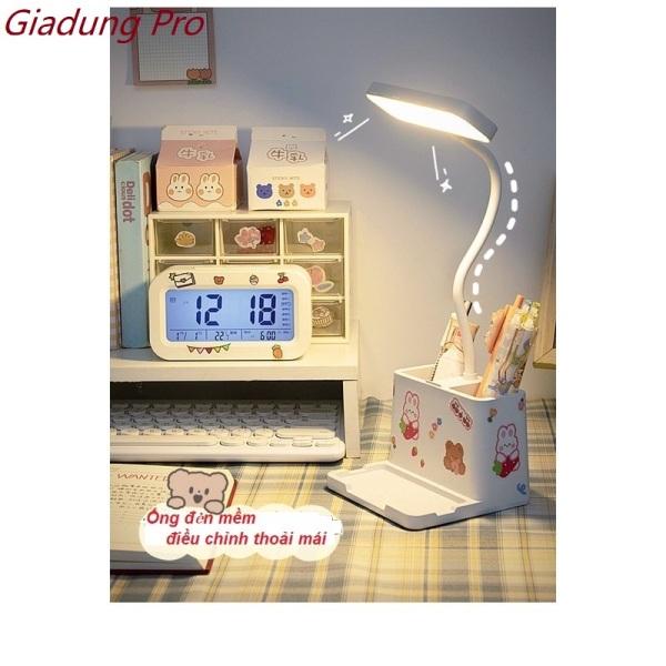 Bảng giá Đèn Học Để Bàn/Đèn Học 3 Chế Độ Sáng Bảo Vệ Mắt Gắn Kèm Ống Đựng Bút Và Giá Kê Điện Thoại - Giadung Pro