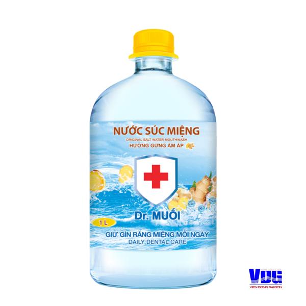 Nước súc miệng Dr. Muối hương Gừng ấm áp (1000ml) giá rẻ