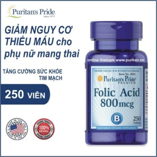 Cho người hiếm muộn, hay bi sảy và di truyền - Folic acid 800mg (HSD 12 21) thumbnail