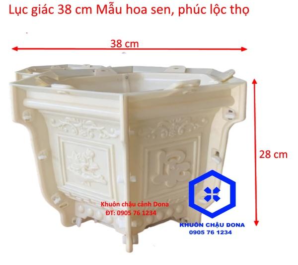 Khuôn Đúc Chậu Lục Giác 38 cao 28 mẫu Phúc Lộc Thọ Khuôn Đúc Chậu Cảnh Nhựa ABS cao cấp
